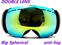 New genuine brand ski goggles double lens anti-fog big spherical professional ski glasses unisex multicolor snow goggles S3500