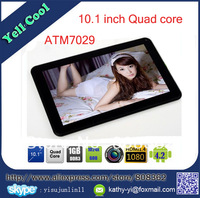 New Cheap 10'' Quad core Actions ATM7029 android 4.2 RAM 1GB ROM 16GB capacitive screen Bluetooth HDMI WIFI 10 inch tablet pc