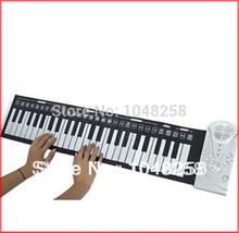 Frete grátis! 2.014 novos presentes 49 mão portátil rolo tecla para cima tipo de piano órgão flexível macio eletrônico dobrável eletrônico(China (Mainland))