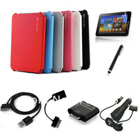 Ultra Slim Business Book Folio Case Cover For Samsung GALAXY Tab 2 P7510 P7500 P5100 P5110 +Pen+USB Cable+OTG Cable+Card reader