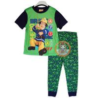 2014 NEW fireman sam BOY T set child clothing  roupas infantis menino summer t shirt cartoon cotton short-sleeve set sam fireman
