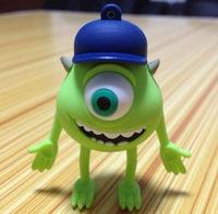 Cute Monste Big Eyes Model USB 2.0 Flash Drive 2/4/8/16/32 GB Mike Wazowski Memory Stick Pendrive Free Shipping OEM Promotion