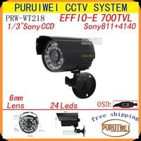 100%Original 1/3 Sony Effio 700TVL 960H OSD Menu Outdoor Waterproof Night/Vision Security Surveillance CCTV Camera.Free Shipping