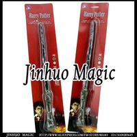 Harry potter's magic wand hogwarts led for magical draco in blister card packing 20pcs/lot wholesales