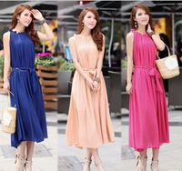 2014 Promotional for Spring and Autumn Wear Sweet Color Bohemian Style Lone Dress 3 Colors Dress Available SP079