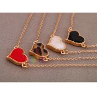 new 2013 Korean Fashion Charming Cute Enamel Love Heart Shape Gold border bracelets & bangles for Women Lady Girls