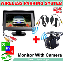 """Free Shipping, 4.3"""" LCD Special Mirror monitors Support Wireless Receiver kits Car Rear Camera FM Transmitter Parking Assistance(China (Mainland))"""