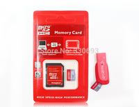 128MB 8GB 16GB 32GB 64GBMicro SD card SD HC Transflash TF CARD USB 2.0 memory card+Free adapter+cartoon box+Gift card Reader!
