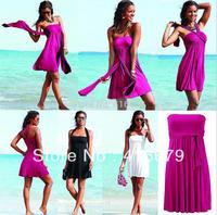 2014 Sexy Chest Women 's Fashion Sarong Summer Holiday dress, Bikini Swim Sexy Dress Women Beach Dress, 10 colors Swimwear