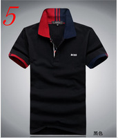 2013 new summer short-sleeved T-shirt men's lapel Slim cotton young models