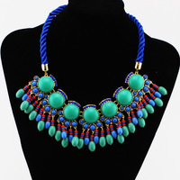 Fluorescence color  Black Big Chunky Chain Unique Design Charms Bubble Chokers Statement Necklaces  PC-77