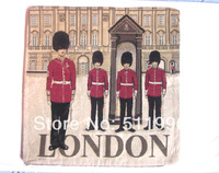 London pillowcase jacquard cushion cover London guards 2014 New design London cushion cover