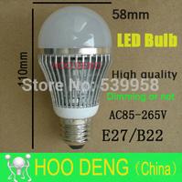 Free shipping High brightness E27 B22 LED Bulb Lamp 10led AC110 220V Dimmable Cold warm white Cree Led Light
