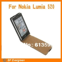 Upgrade  PU Leather Fold Flip Open Skin Case For Nokia Lumia 520 Cover Protector MC050-4