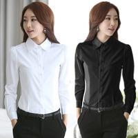 2014 New fashion White Shirt Women work wear Long Sleeve Tops Slim Women's Blouses Shirts plus sie S-4XL casual blusas blusa