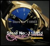 2014 New Hot Super Deluxe Original fashion belt sapphire dial calendar automatic mechanical Swiss watch brand Men