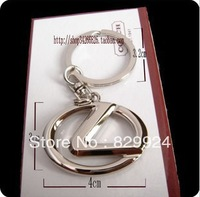 2pcs/lot free shipping New arrival metal Lexus keychain car logo key rings