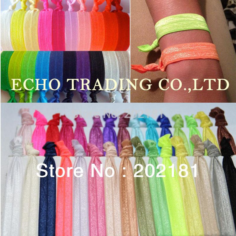 100pcs/lot Goody Ouchless Ribbon Elastics Hair Bands-Girls Women's Hair Accessories Emi Jay Like Elastic Yoga Hair Ties(China (Mainland))