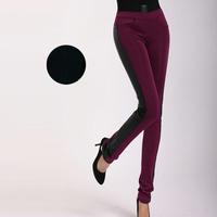 Plus Size L-5XL Women Skinny Long Cotton-Padded Pencil Pants 2014 Winter Fashion Lady Black Slim Big Size Trousers