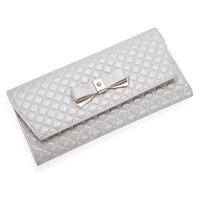 New 2014 Wallet female long design  spring women's wallet cowhide money clip bow women's wallet