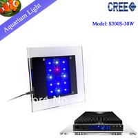 Free shipping  Crystal  intelligent control 30W  aquarium led light for marine tank