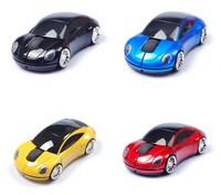 2014 Fashion New 1000 DIP 2.4G 3D Optical Wireless Mini Sports Car Mouse Mice Computer Accessories Desktop Laptop USB Receiver