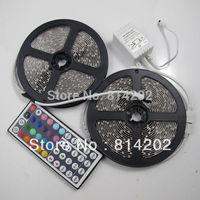 10M (2 Rolls) SMD RGB 5050 Waterproof Strip light 300 LED Bulbs Lamp + 44 Key IR Remote free shipping