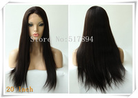 "120% Density! Brazilian Human Hair Glueless Full Lace Wigs 2# Darkest Brown 10""12""16""18""20""Silk Straight Brown Lace B18"