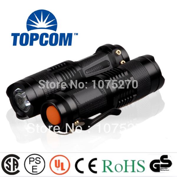 High power 7w cree led mini flashlight 350lm zoomable(China (Mainland))