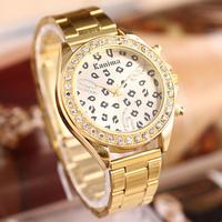 Elegant Dial Steel Band Analog Quartz Wrist Watch New Wholesale Fashion Hot Luxury Gold Charm Ladies Quartz hours Gift