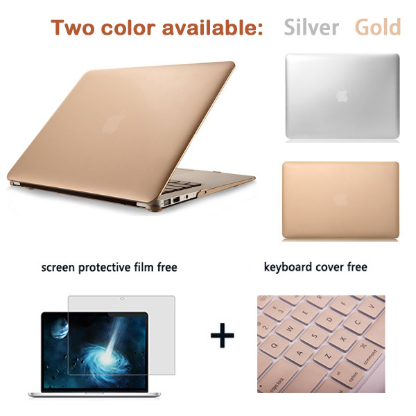 Exclusive de mode de luxe de couleur métallique champagne. or, pro 13 15 retina display Étui couverture pour ordinateur portable macbook