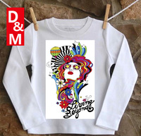 Cotton long sleeve children t shirts, cute cartoon t-shirt,ql design cartoon t-shirt boys girls t-shirt figure kids wear