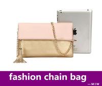 tassel handbags 2014 women lady pu chain bag women leather designers brand handbags messenger bolsas femininas clutch handbags