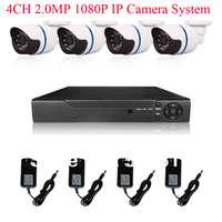 8CH H.264 NVR System Onvif 2.0 MegaPixel 1080P 25fps Network IP Camera 24IR Outdoor Camera 2TB HDD