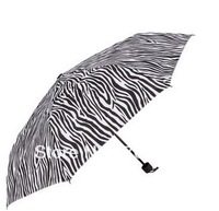 Stripe Folding Long-Handled Sun-Shading Anti-UV  Umbrella