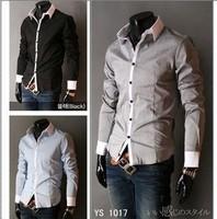 Free Shipping 2013 discount sale men's shirts, Casual Slim Fit Stylish Men's Dress Shirts, Polo chemises men, camisa masculina