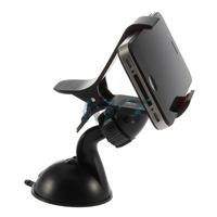1pcs Black Universal Car Holder Windshield Mount Bracket for Iphone 5 Mobile Phone Holder Rotating 360 Degree
