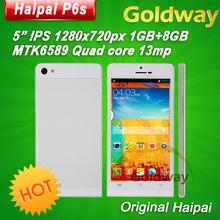 "Original Haipai P6s MTK6589 Quad Core Phone 5"" IPS 1280x720p Screen 1GB RAM 8GB ROM Android 4.2 Dual SIM WCMDA 13mp Camera GPS(Hong Kong)"