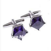 MOQ 50 Pairs wholesale Crystal Cufflinks Top Quality copper crystal men shirt Cufflink for Men dress shirt