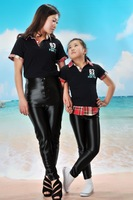 2014 Brand Hight Waist Neon AA Pants for School Slim Girl 4 Colours Disco Shiny Pants for Mother and Daughter