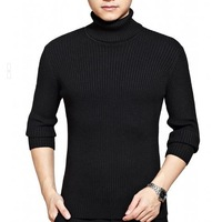 2013 autumn and winter fashion all-match genuine crocodile men's sweater cotton turtleneck sweater striped sweater free delivery