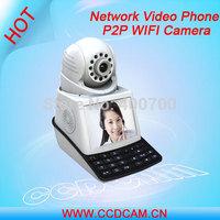 "Wireless Alarm System P2P Free Call IP Camera 3.5"" TFT LCD Network Video Phone Camera EC-IP2019W"