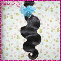 A single bundle 95-100grams 1 piece free shipping 7A russian human virgin Raw human hair weave,nice body wave  wavy top !