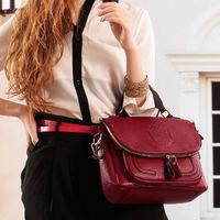 Big sale Crown College Leather  shoulder Messenger handbags women Bolsas  Wholesale vintage bags