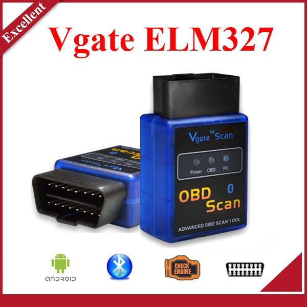 bluetooth elm 327 vgate scan obd2/elm327 v2.1 obdii lecteur de code