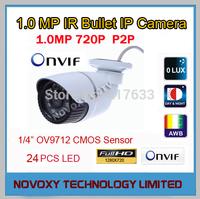 Free Shipping 1280x720P Megapixel IR Infrared 20M Mini Weatherproof Waterproof Bullet IP Camera_SK-IP8220P