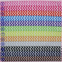 5/8 inch Free shipping Fold Over Elastic chevron 12 colors options printed ribbon headband diy decoration wholesale OEM  H1793