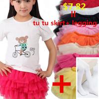 girls winter skirt girls skirts  fluffy skirt tutu ballet dance wear pettiskirts cute chiffon.legging for gift.girls pettiskirts