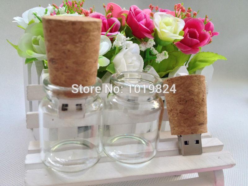 100% real capacity drift bottle Wishing gift flash memory 8 16 USB 2.0 Flash Memory Stick Drive Thumb/Car/Pen Gift S35 #AA(China (Mainland))