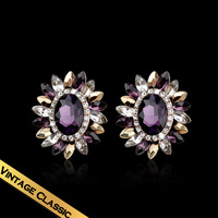 Special Sun Flower Zircon Earring Free Shipping Handmade Colorful Drill Earrings For Girls EH13A121